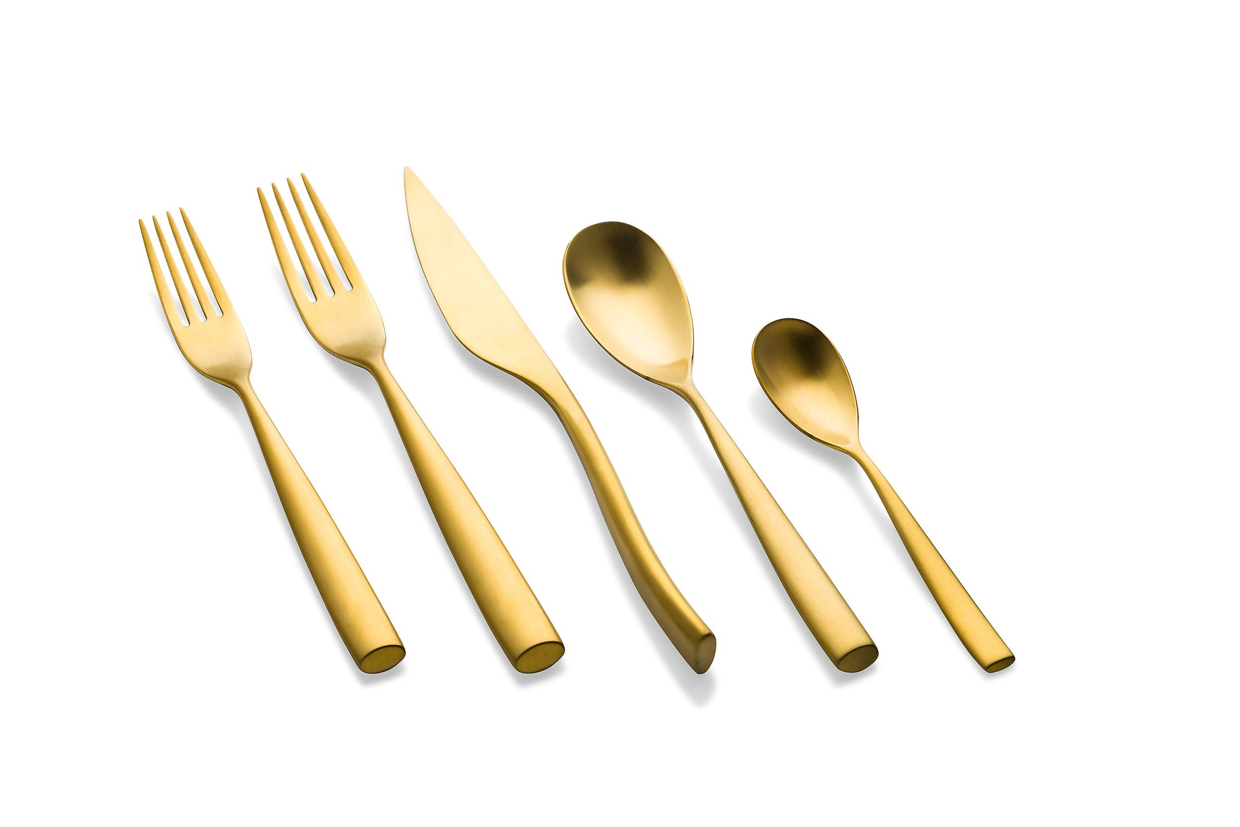 Mepra Arte Ice Oro 5 pcs flatware set