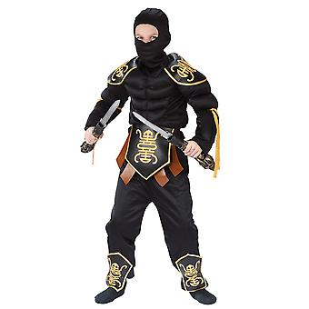 Stealth Ninja Muscle Warrior Japanese Martial Arts Book Week Boys Costume