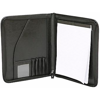 A4 Dossier de conférence zippé Folio cas Pu cuir Business voiture manuelle organisateur