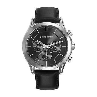 Pierre Cardin mens watch relógio couro Chrono BOTZARIS HOMME PC107201F02