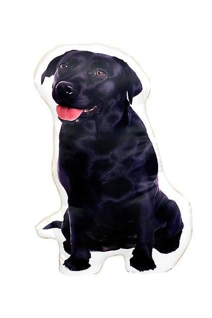Adorable black labrador shaped cushion