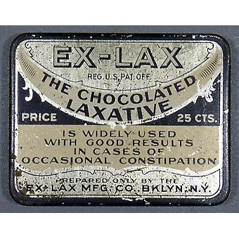Ntin экс слабый контейнера для экс слабый шоколад ароматизированный слабительные C1920 Плакат Печать коллекции Грейнджер