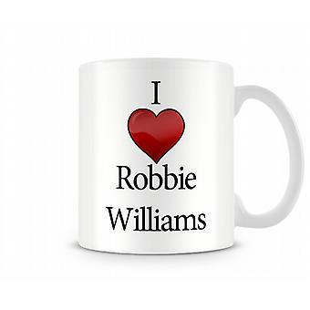 Я люблю печатной кружка Робби Уильямс
