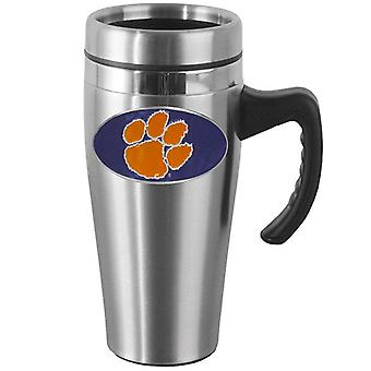 Clemson Tigers NCAA Stainless Steel Travel Mug with Handle