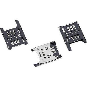 WR CRD SIM-kaart-aansluiting (Mini-SIM) met cover aantal pins: 6 Würth Elektronik inhoud: 1 PC('s)