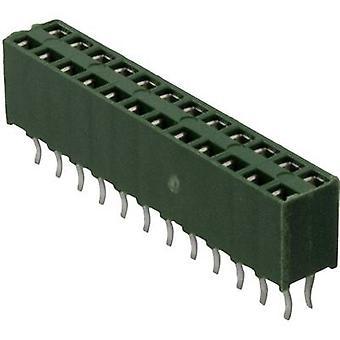 Il numero totale AMPMODU HV-100 TE connettività recipienti (standard) di spaziatura contatto pin 4: 2.54 mm 215307-2 1/PC