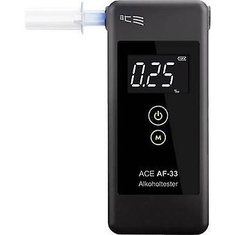 Breathalyser ACE AF-33 mörk grå 0,00 upp till 5.00 ‰ inkl skärm