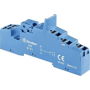Finder 97.P1 Relay socket Compatible with series: Finder 46 series, Finder 99 series, Finder 86 series Finder 46.61, Finder 99.02, Finder 86.30.0.024.0000 1