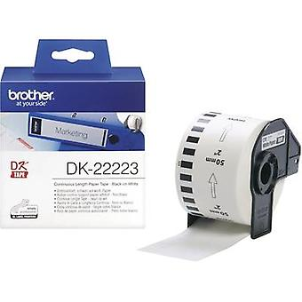 Brother DK-22223 etikett rulle 50 mm x 30,48 m papper vit 1 rullar Permanent DK22223 All-purpose etiketter