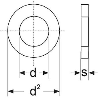 TOOLCRAFT 814652 Scheiben innen Durchmesser: 4,3 mm M4 DIN 125 Stahl Zink vernickelt 100 PC