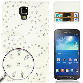 Matkapuhelin kansi matkapuhelin tapauksessa yli valkoinen matkapuhelin Samsung Galaxy S4 aktiivinen GT I9295