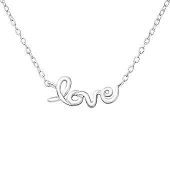 الحب - 925 الجنيه الاسترليني الفضة عادي قلادات - W18637X