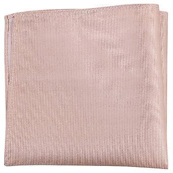 Knightsbridge kaulavaatteita Ribbed Silk Pocket Square - Beige