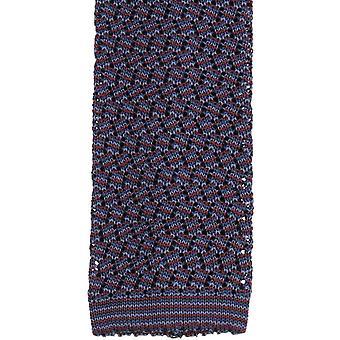 KJ Beckett Suzy Chevron silke slips - vin/Navy/stål grå