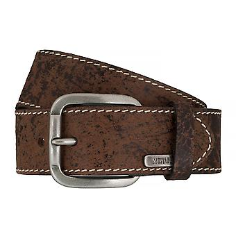 MUSTANG belts men's belts leather jeans belt Brown 7595