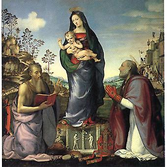 The Virgin and Child Adored by Saints Jerome and Zen, Mariotto Albertin