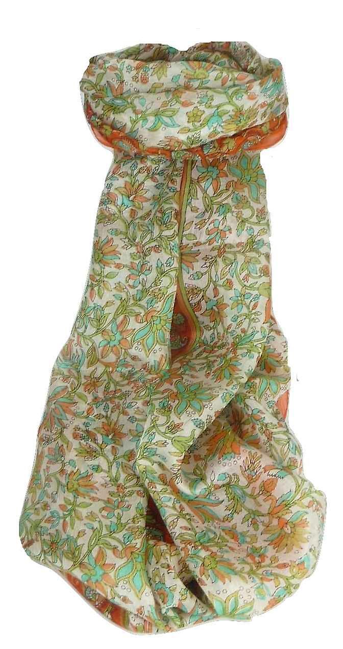 Mulberry Silk Traditional Long Scarf Sarita Terracotta by Pashmina & Silk