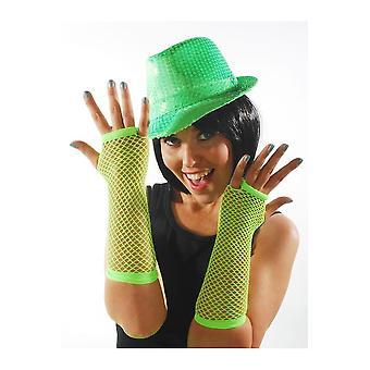 Verde brillante di guanti a rete guanti