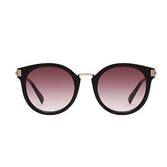 Le Specs Last Dance Black Round Sunglasses