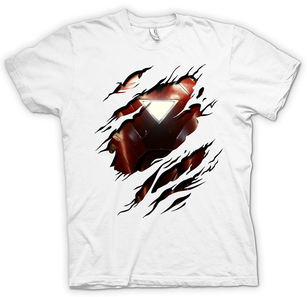 kids t shirt iron man 2 triangle arc superhero ripped