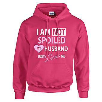 Hot Pink I'm Not Spoiled My Husband Just Loves Me Hoodie