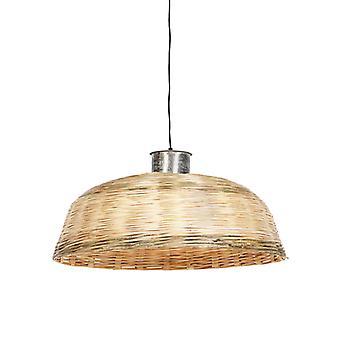 QAZQA Land Pendelleuchte Lampe 70cm natürlichen Bambus - kaum