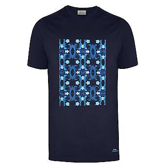 CC Kollektion Corneliani Marine gedruckt Logo T-Shirt