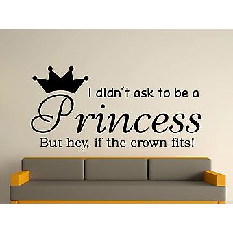 Wird A Princess v2 Wall Art Sticker - schwarz