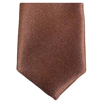 Knightsbridge halsdukar smal Polyester Tie - mörkbrun
