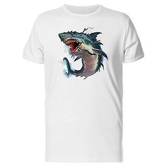 Shark suu Monster maalaus Tee Men-kuva: Shutterstock