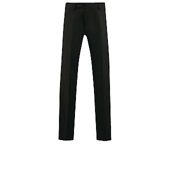 Dobell Mens schwarzen Anzug Hose passen regelmäßige Reisen/Leistung