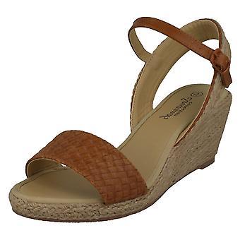 Mesdames Savannah corde Wedge Sandals F10887