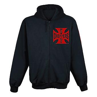 West Coast choppers mens Zip Hoodie OG Red Cross
