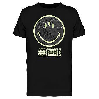 SmileyWorld Three Eyes Happy Face Graphic Men's T-shirt