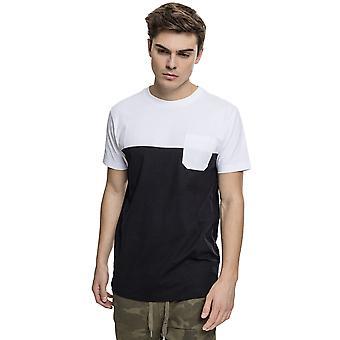 Urban Classics Men's T-Shirt Color Block Summer Pocket