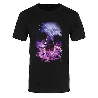 Grindstore Mens Galactic Skull Premium T-paita