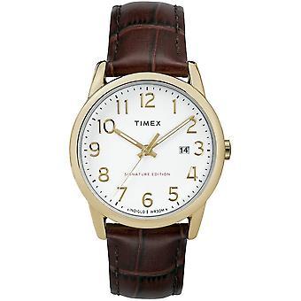 مشاهدة Timex القارئ سهل توقيع 38 مم الجلود TW2R65100