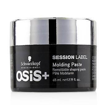 Schwarzkopf Osis+ Sesión Etiqueta Molding Paste (pasta de modelado remoldeable) - 65ml/ 2.19oz
