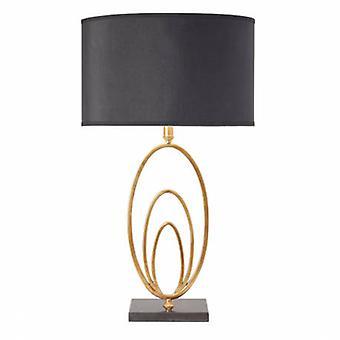Lampe de table feuille d'or