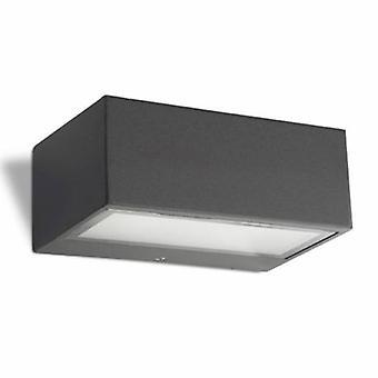 1 lumière mur extérieur lumière urbaine gris Ip44