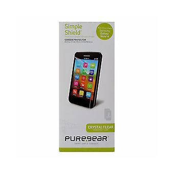PureGear بسيطة درع الشاشة حامي لسامسونج غالاكسي ملاحظة 4 - واضح