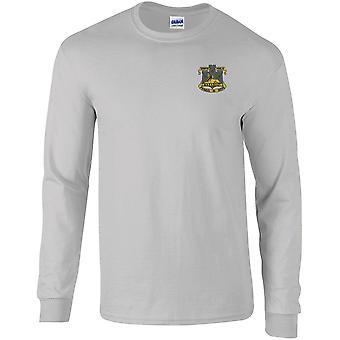Devonshire y Dorset Light Infantry - Camiseta de manga larga bordada con licencia del Ejército Británico