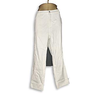 Denim et Cie Femmes Plus Jeans Studio Classic Denim Menotté Blanc A305412