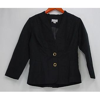 Joan Rivers Classics Collection Women's Tuxedo Jacket Black A258465
