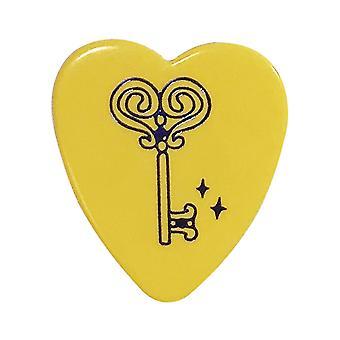 6 Pickboy Angel Rocks Guitar Picks/Plectrums - Yellow Blue Key - Medium 0.75mm