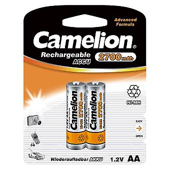 2x Camelion rechargeable batteries AA NiMH 2700mAh battery