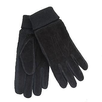 Men's Tom Franks Black Suede Gloves 29949/GL397