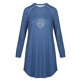 Feraud 3191150-10092 Women's Casual Chic Indigo Blue Cotton Loungewear Nightdress