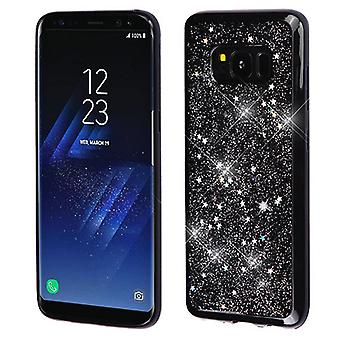 MYBAT Silver Starry Sky (Black) Krystal Gel Series Candy Skin Cover for Galaxy S8 Plus