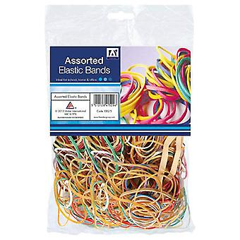 Assorted 60g Bag Of Elastic Bands Rubber Bands